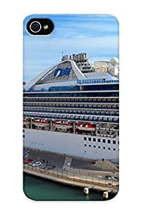 Hot Style KQrNJBz1931zVBpV Protective Case Cover For Iphone4/4s(ships Cruise Liner Marinas Star Princess )