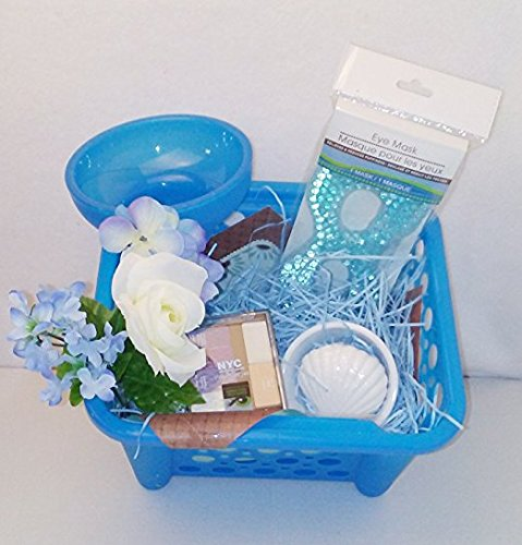 [Beautiful Blue April Bath & Shower Scented Body Lotion Bath & Body Works Mother's Day Women's Gift Basket Bundle] (Homemade Cupcake Costumes For Adults)