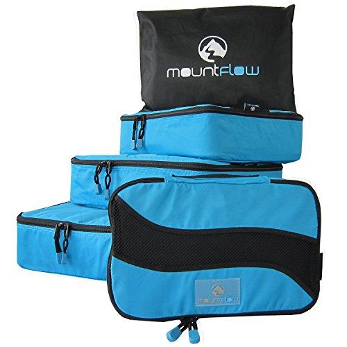 Pack Würfel - Reiseset mit 4 plus Wäschebeutel für große und kleine Koffer und Handgepäck und Koffer Gepäck Organizer