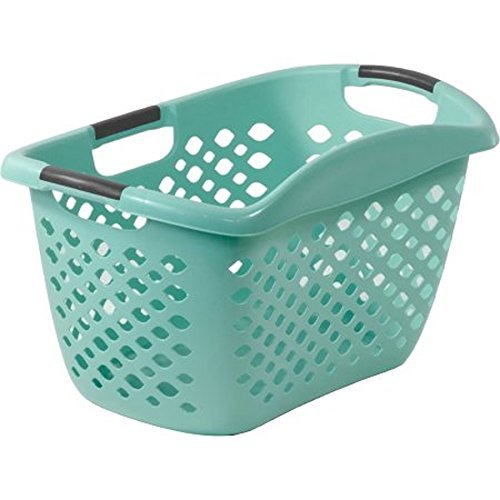 Home Logic 1.8-Bu Large-Capacity Hip Grip Laundry Basket, Teal Splash (Good Grips Laundry Hamper)