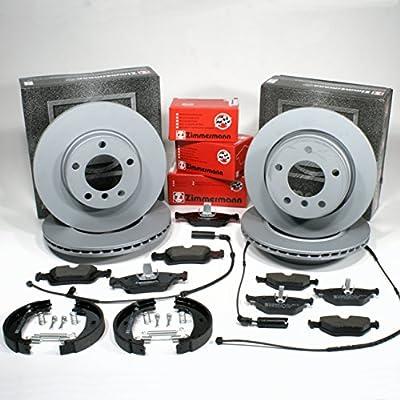 HANDBRAKE SHOES SET PADS FRONT 4x BRAKE DISC REAR BMW 3 SERIES E46