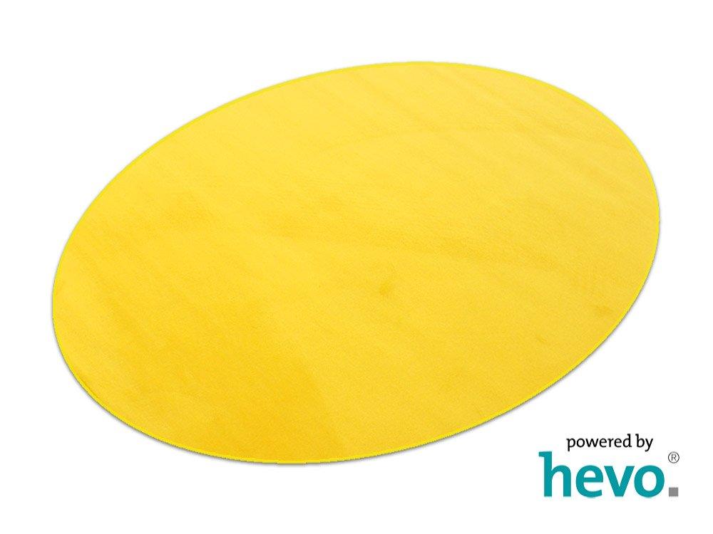 HEVO Romeo gelb Teppich   Kinderteppich   Spielteppich 125x195 cm Ellipse