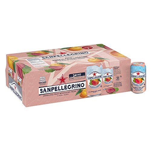 Sanpellegrino Prickly Pear and Orange Sparkling Fruit Beverage, 11.15 Fl. Oz Cans (24 Count)