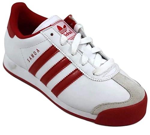 adidas Mens Samoa Sneaker , White Red