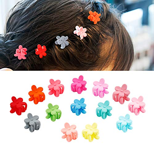 50 Pcs Colorful Mini Hair Clips for Girls, Blend Colors