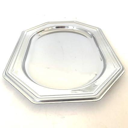 Extiff - Juego de 5 bandejas ovaladas de plástico Metalizado ...