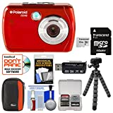 Polaroid iS048 Waterproof Digital Camera (Red) with 32GB Card + Case + Tripod + Cleaning Kit Review