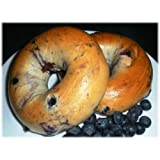 Burry Foodservice Thaw and Sell Sliced Blueberry Bagel, 4 Ounce - 72 per case.