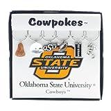Wine Things Oklahoma State University Painted Glassware Charms