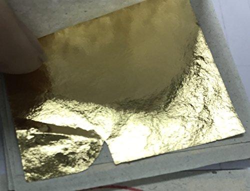 Gold Leaf Sheets 999/1000 Real Gold : 500 pcs Gold 100% Leaf Sheets