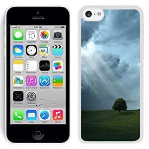 New Beautiful Custom Designed Cover Case For iPhone 5C With Storm Cloud Sun Rays (2) Phone Case