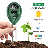 FYLINA Soil pH Meter, 3 in 1 Soil Test Kit for Moisture, Light & pH/Acidity, Gardening Tools for Home and Garden, Lawn, Farm, Plants, Indoor & Outdoor Plant Care Soil Tester (No Battery Needed)