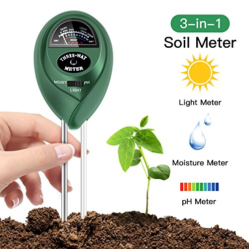 FYLINA Soil pH Meter, 3 in 1 Soil Test Kit for Moisture, Light & pH/Acidity, Gardening Tools for Home and Garden, Lawn, Farm, Plants, Indoor & Outdoor Plant Care Soil Tester (No Battery Needed) (Tips For Planting Grass Seed In Summer)