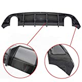 Rear Lip Bumper Valance Diffuser For 2015-2019 Dodge Charger SRT Rear Bumper Diffuser Carbon Fiber Style