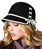 Product review for Bienvenu Women Vintage 100% Wool Cloche Bucket Winter Hat with Bowknot Accent