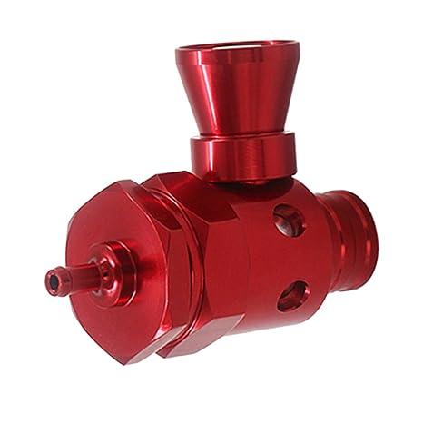 Sharplace Turbo Boost Válvula de Alivio de Presión de Soplado BOV con Silbador - Rojo