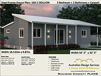 Amazon Com 3 Bedroom House Plan 3 Bedroom 2 Bathroom 2 Car Concept Plans Includes Detailed Floor Plan And Elevation Plans Small Home House Plan Ebook Morris Chris Designs Australian Kindle Store