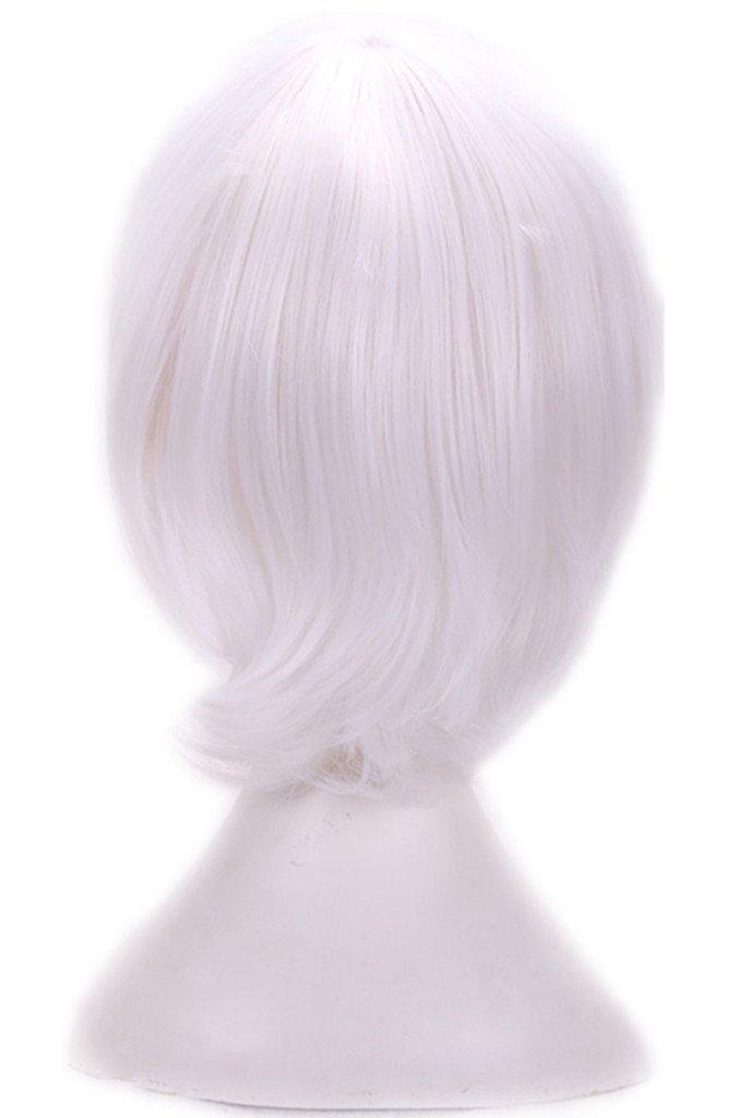Amazon Com Aneshe Men S Short Straight Layered Hair Anime Cosplay