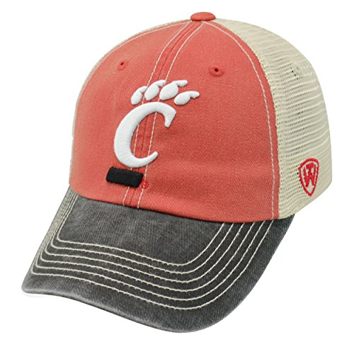 Cincinnati Bearcats Ncaa Baseball - Top of the World NCAA Cincinnati Bearcats Offroad Snapback Mesh Back Adjustable Hat, One Size, Red/Black/Khaki