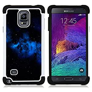 GIFT CHOICE / Defensor Cubierta de protección completa Flexible TPU Silicona + Duro PC Estuche protector Cáscara Funda Caso / Combo Case for Samsung Galaxy Note 4 SM-N910 // Space Planet Galaxy Stars 67 //