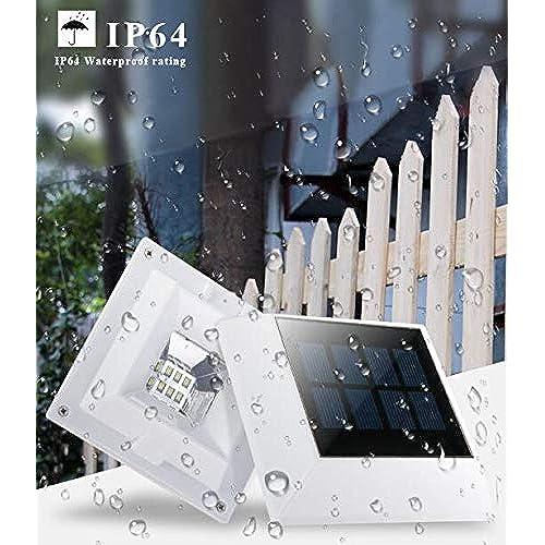Uni quefire Lampe solaire 6 LED extérieur Lampe murale en de ...