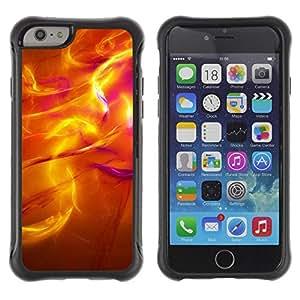 Suave TPU Caso Carcasa de Caucho Funda para Apple Iphone 6 PLUS 5.5 / Sun Radiate Iridescent 3 Flames Fire / STRONG