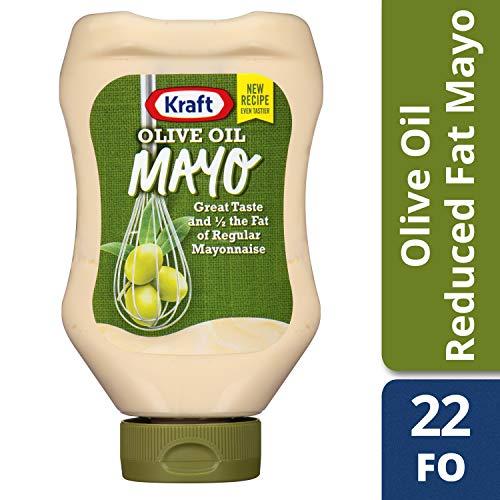 (Kraft Mayo Reduced Fat Mayonnaise with Olive Oil, 22 fl oz Bottle (3 bottles) )