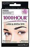 1000 lashes - 1000 Hour Eyelash & Brow Dye / Tint Kit Permanent Mascara (Black)