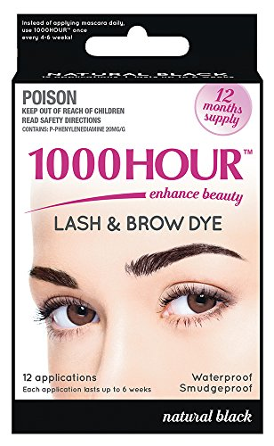 (1000 Hour Eyelash & Brow Dye / Tint Kit Permanent Mascara (Black))