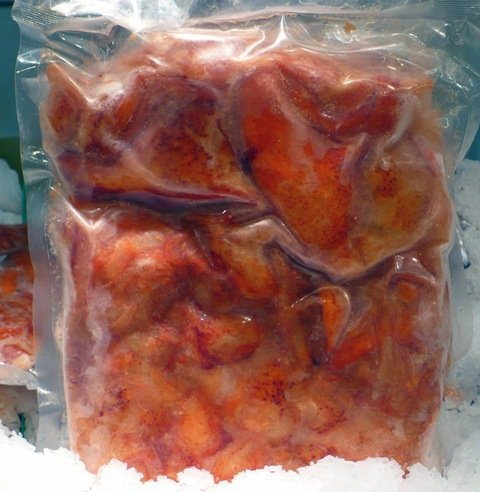 Frozen Lobster Meat - lobster claw and knuckle meat, cooked, product of canada, 2 LBS, frozen by Robert Wholey & Co.