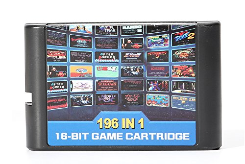 196 All in 1 Classic Game Cartridge 16 Bit Game multi games For Sega Mega
