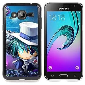 "Qstar Arte & diseño plástico duro Fundas Cover Cubre Hard Case Cover para Samsung Galaxy J3(2016) J320F J320P J320M J320Y (Anime japonés"")"