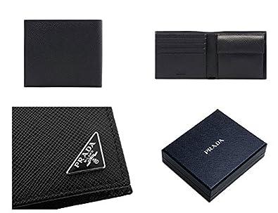 37b6c6e47743 PRADA プラダ メンズ 2MO738 QHH F0002 小銭入れ付き 二つ折り 財布 サフィアーノ レザー 三角ロゴ