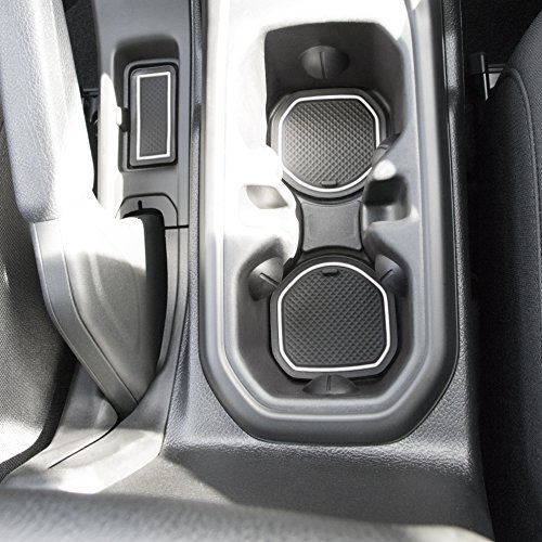 CupHolderHero Custom Fit Cup, and Radio Pocket Liner Accessories for JL JLU Jeep Wrangler 2018 2019 13-pc Set (FITS Sports and Rubicon with Cloth Seats ONLY!, White Trim) price tips cheap