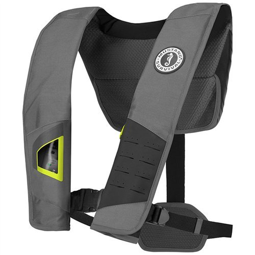 MUSTANG SURVIVAL MD2981 DLX 38 Inflatable Manual PFDLife Jackets & Vests, Grey
