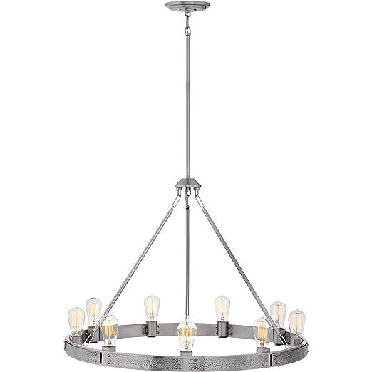 Amazon.com: Chandeliers 9 lámparas con acabado en níquel ...