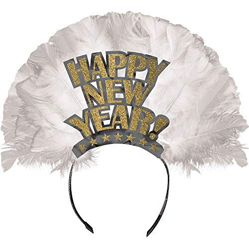 Amscan Happy New Year Deluxe Gold Plastic Tiara