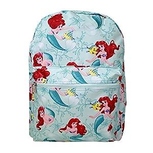 "Disney Little Mermaid Princess Ariel & Flounder 16"" IN Backpack, Aqua Green, Large"