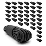 Emergency Zone 9mm (3/8 inch) Nylon Braided, 50 Foot, Multi-Purpose Rope. Black 40 Pack