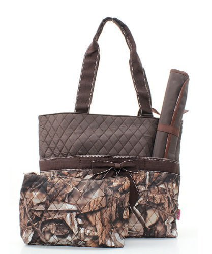 Quilted BNB Natural Camo 3pc Diaper Bag Set