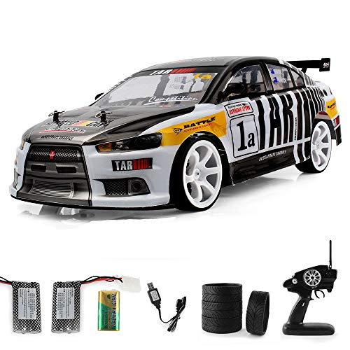 1/10 Huge RC Car for Adults, 2.4Ghz Electric with LED Headlight Racing Off Road Truck - 4WD High Speed Remote Control 70km/h Racing Drift Car, Electric Toy Car Gift for All Adults & Kids (Black) (Best Rc Drift Cars For Sale)