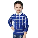Product review for MMX Boy's School Uniform Pullover Sweaters Long Sleeve Cotton Knitted Clothes