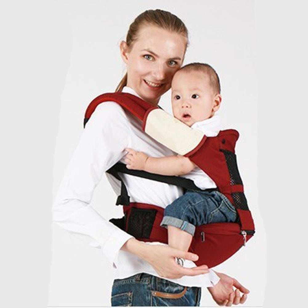WESEASON Multifunktionaler Babyträger Atmungsaktives Mesh-Tuch Reise Zu Fuß Baumwolle Baby-Träger Komfortabel Und Ergonomisch Kind Und Neugeborene Sling Multi-Position Tragen Tragetuch