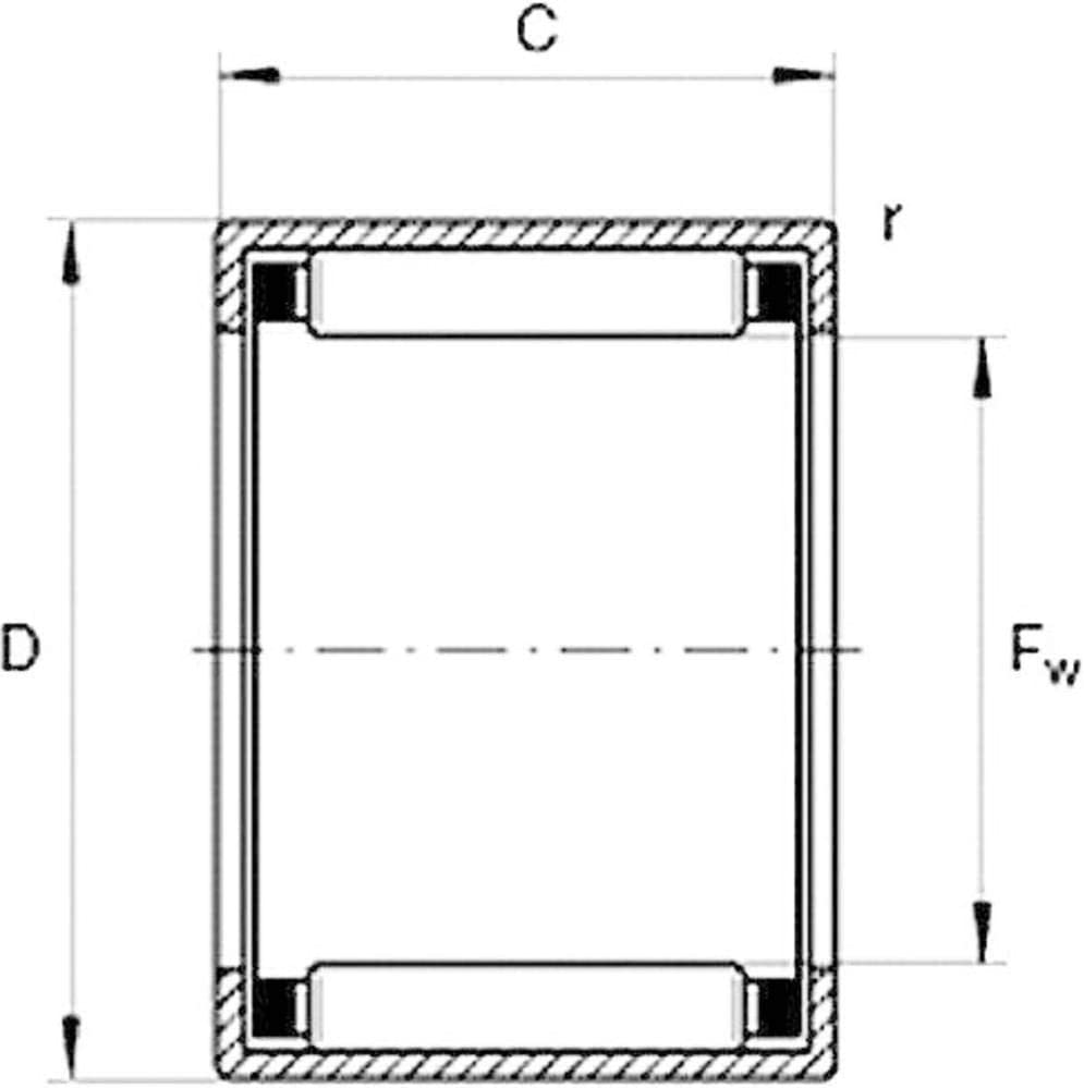max. HK-Nadellager UBC Bearing HK 0509 Bohrungs-/Ø 5 mm Au/ßen-Durchmesser 9 mm Drehzahl 22000 U//min