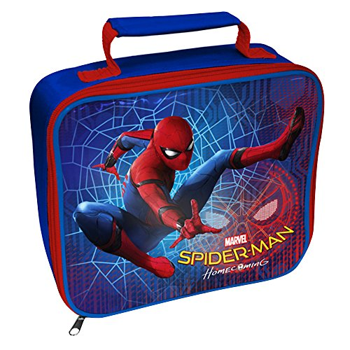 Spiderman Official Childrens/Kids Rectangle Lunch Bag (One Size) (Red/Blue)
