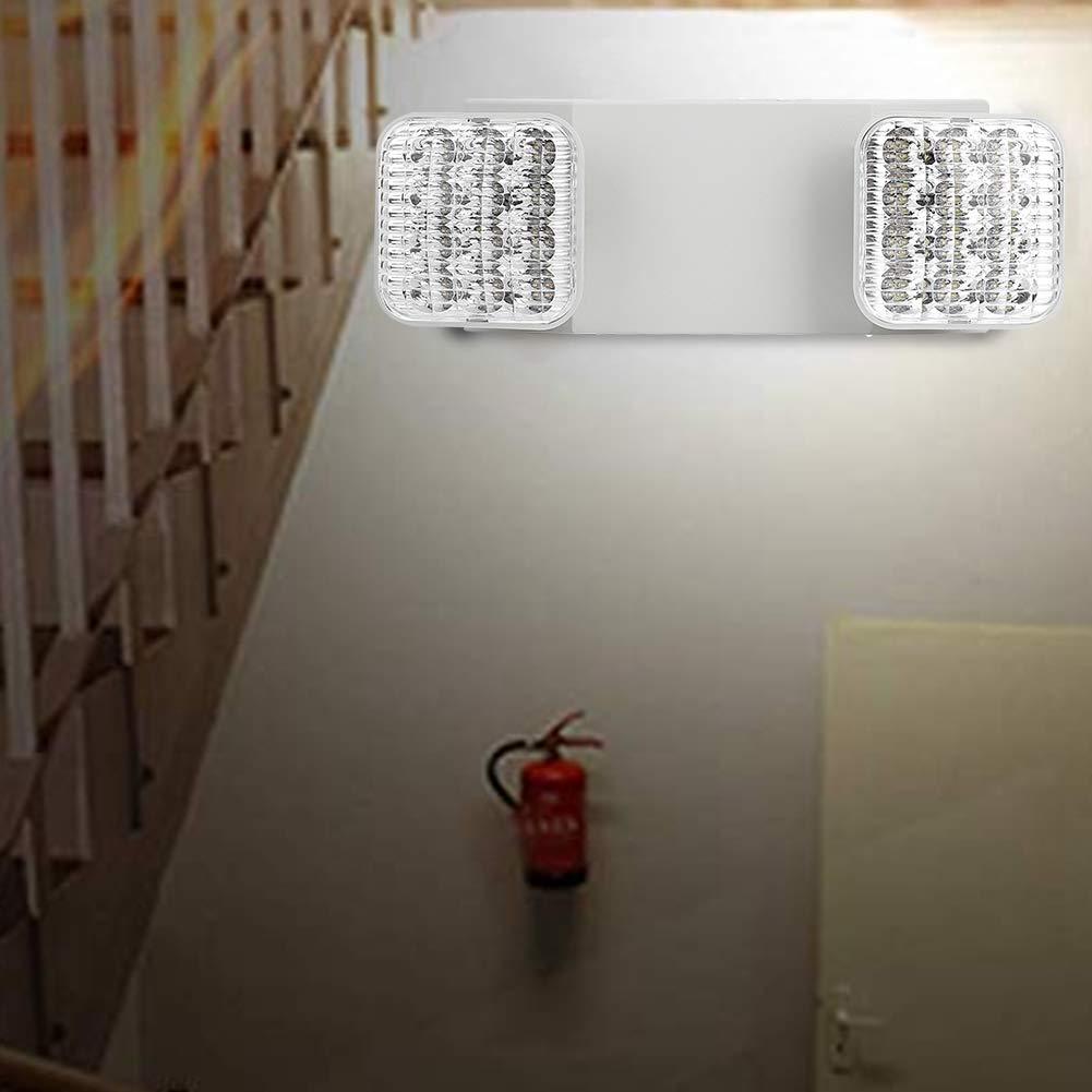 GOTOTO Lumi/ère de Secours Panneau dindication de Sortie de Secours LED Etanche Indicateur de Lampe /à T/ête Double R/églable Signalisation de Sortie Urgence 3.2W