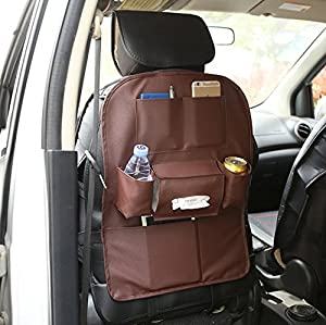 Cool Xin Car seat leather collecting and hanging bag (coffee, 56)
