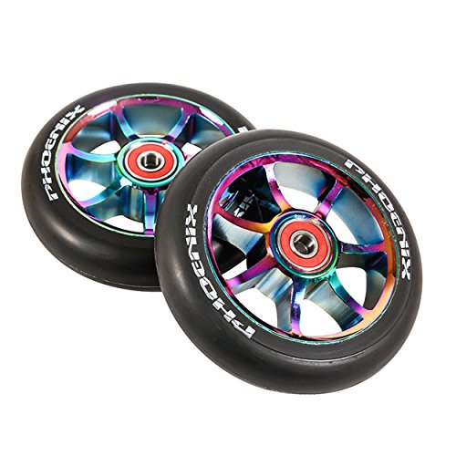 Phoenix F7 Alloy Pro Scooter Wheel 110mm with ABEC 9 Bearings - Single or Set (2-Pack)