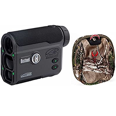 Bushnell 202442 The Truth ARC 4x20mm Bowhunting Laser Rangefinder with Clear Shot + Badlands Rangefinder Case by Bushnell