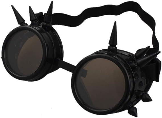 Steampunk Viktorianische Brillen Vintage Brillen mit Doppelten Lupen Linsen Gotischen Brillen